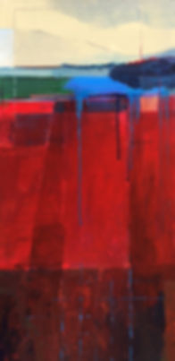 Abstract red & blue landscape