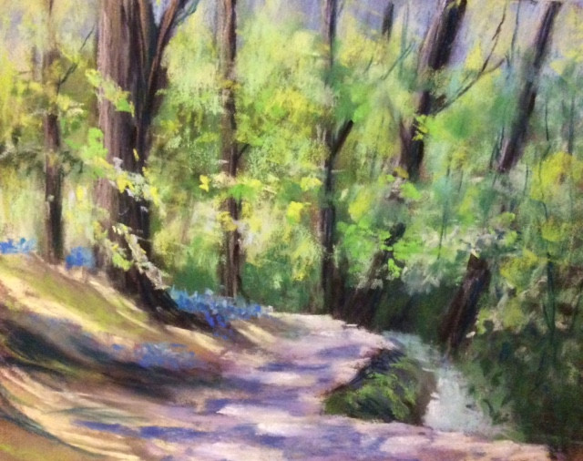 Gledhow Valley Woods Pastels. 12x9ins