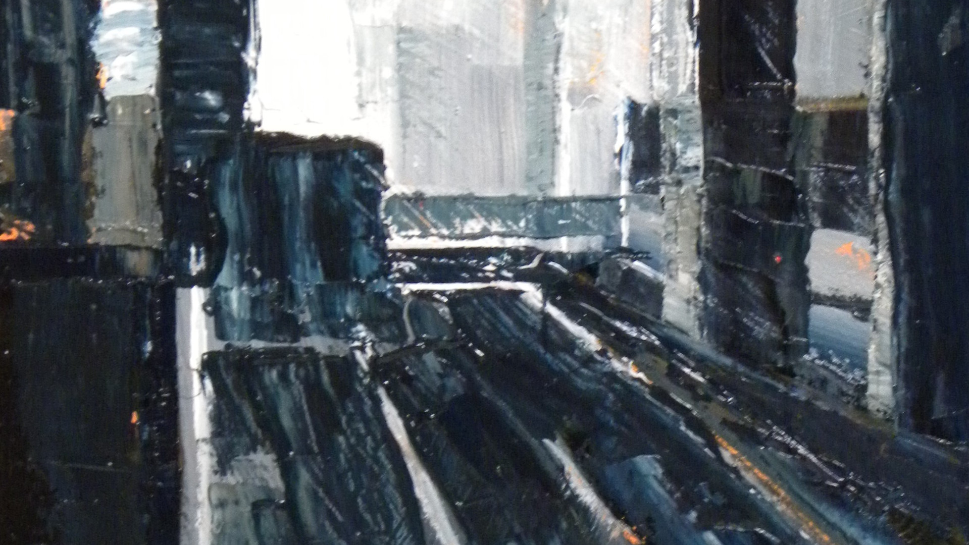 Inner Ring Road, Leeds  Acrylics. 30x21cms