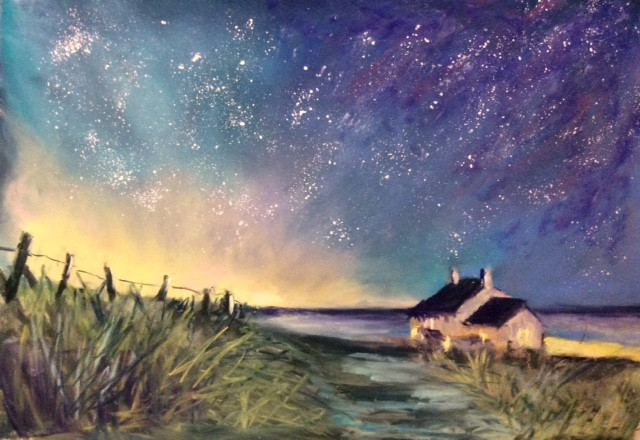 Starry Night Pastels. 14x11ins