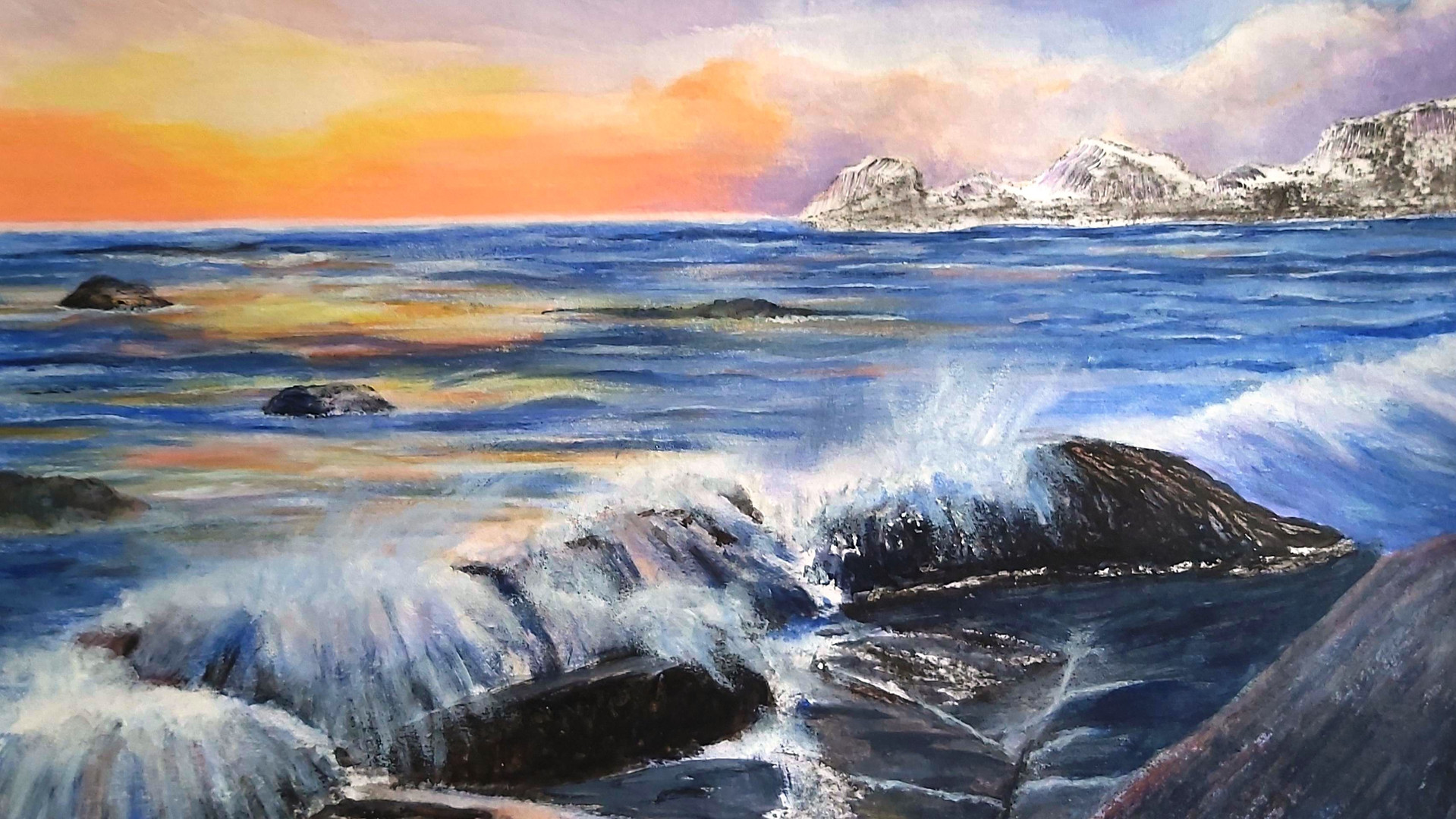 Sunrise Seascape Mixed media