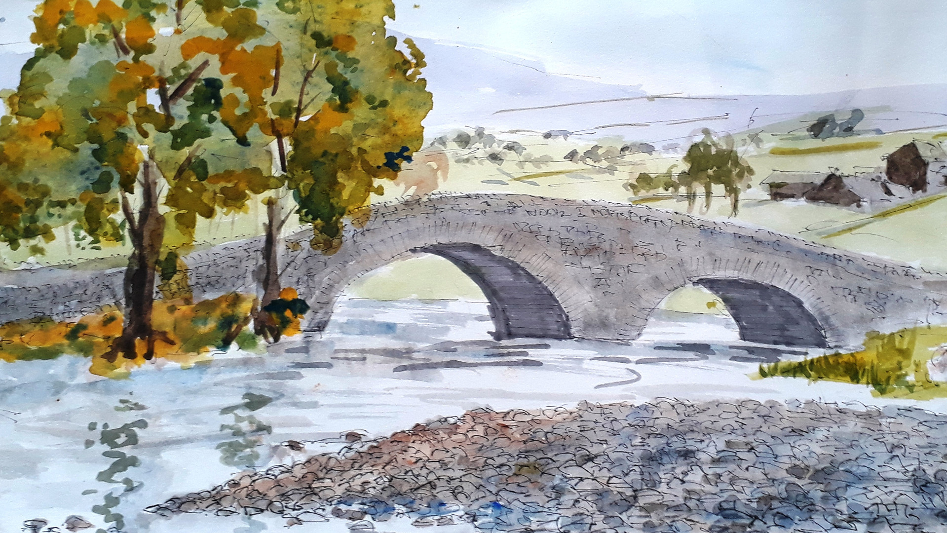 Dales Bridge Watercolour