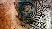 Mayan Symbols Oil & mixed media on canvas