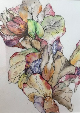 Autumn Leaves Watercolour & pen