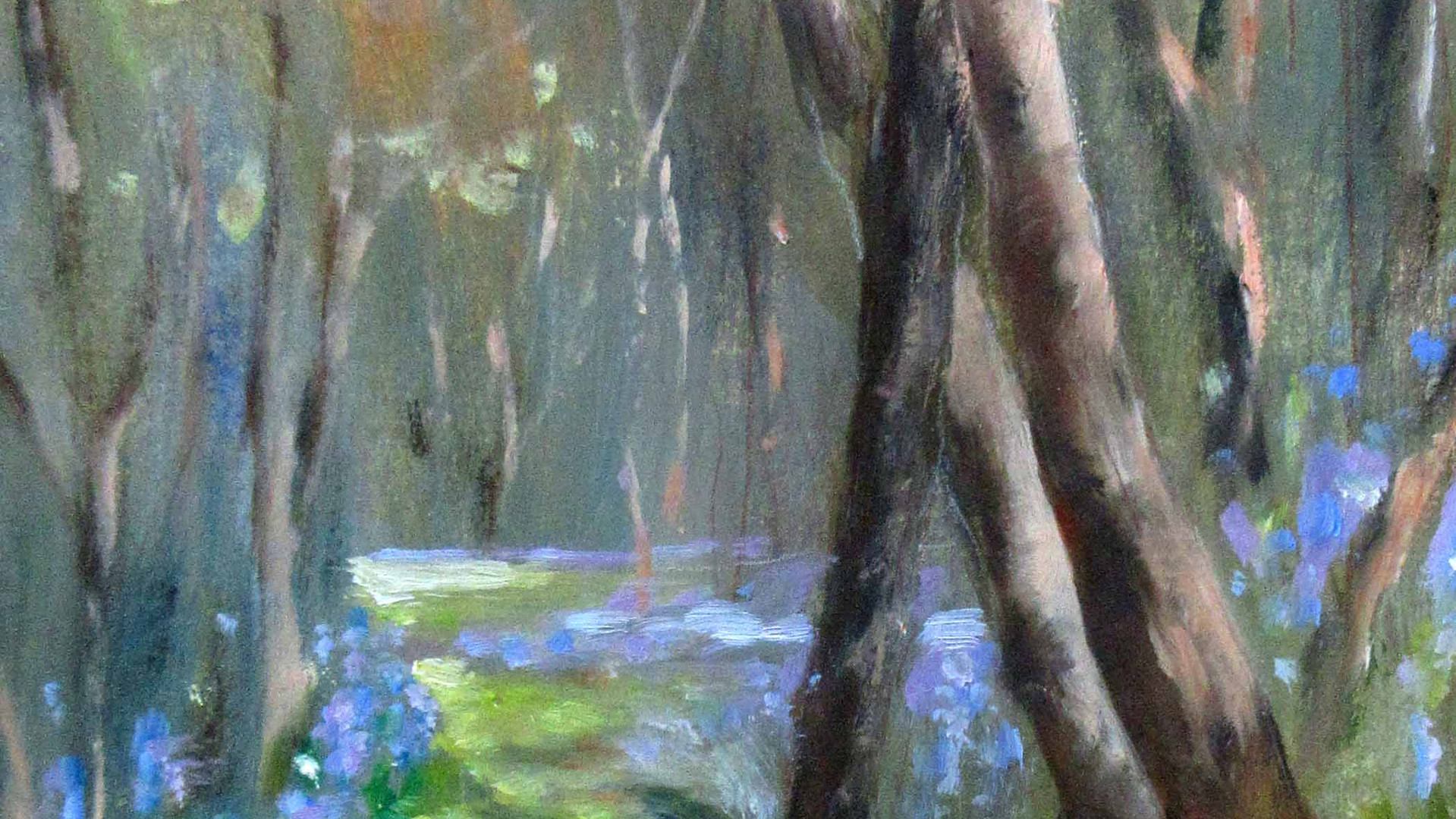 Bluebell Wood Oils. 25x16cms