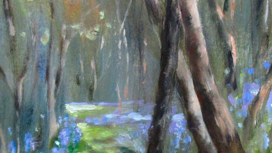 Bluebell Wood Oils. 25x16cms
