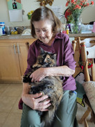 Happy Resident and her Cat