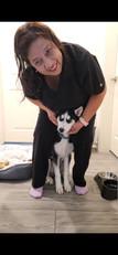 Leilani and her dog Loki