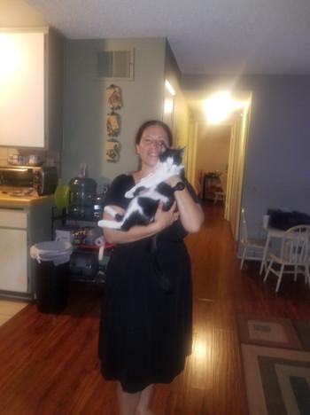 Maria and her cat Luna