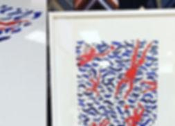 Custom framed customer artwork