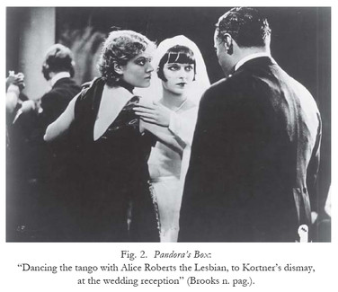 Weimar Germany: the lesbian, Countess Geschwitz, dances tano with Lulu, in Pandora's Box 1929