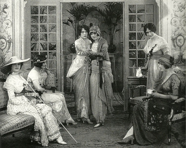 Mannequins dancing tango at a fasion show, Paris 1913