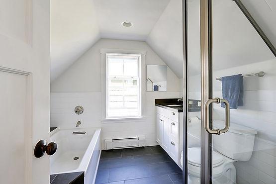 loft conversion new attic bathroom London property msbuilders