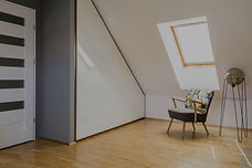 an old loft converted into an attic room in london property