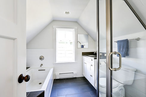 a loft converted into bathroom in london property Chiswick
