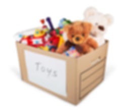 Toy drive box of toys