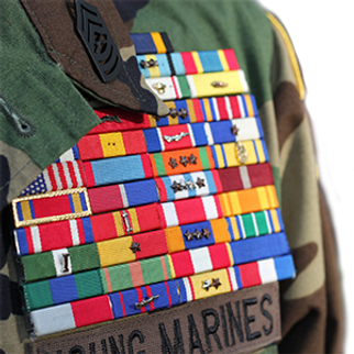 young marines ribbon racks