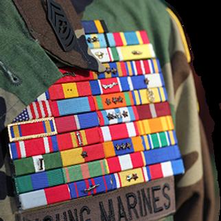 young marines ribbon racks