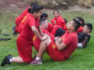 young marines during physical training