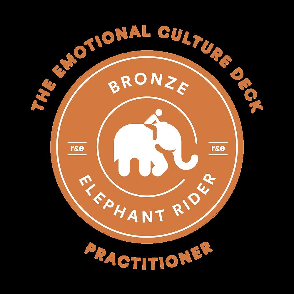 The emotional Culture Deck ECD Elephant rider Bronze