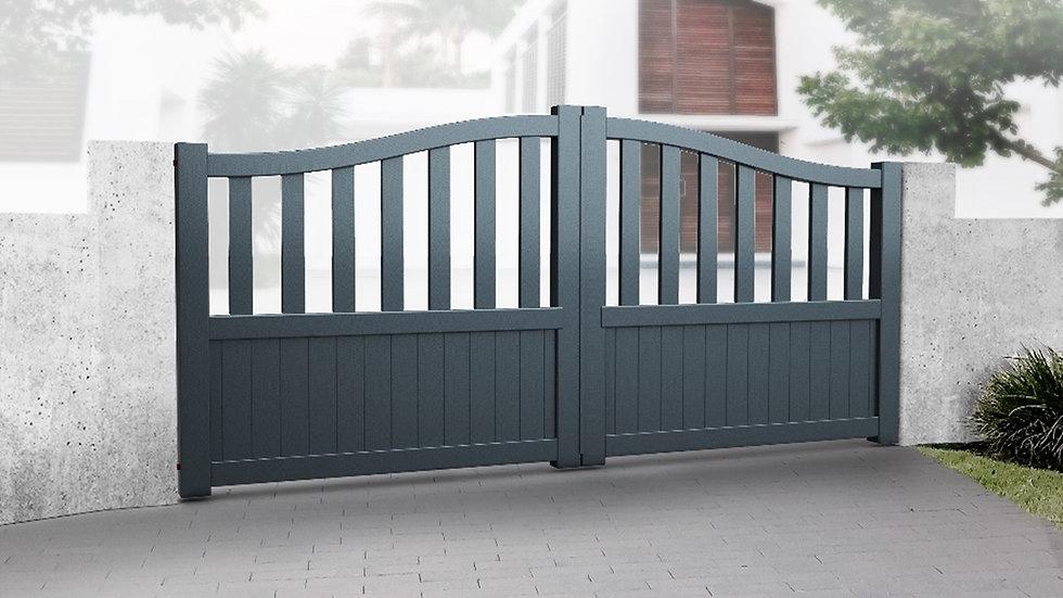 Cambridgeshire Aluminium Double Swing Gates