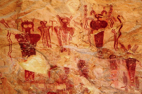 Caveman Art : The ancient aliens alien art sego canyon cave paintings