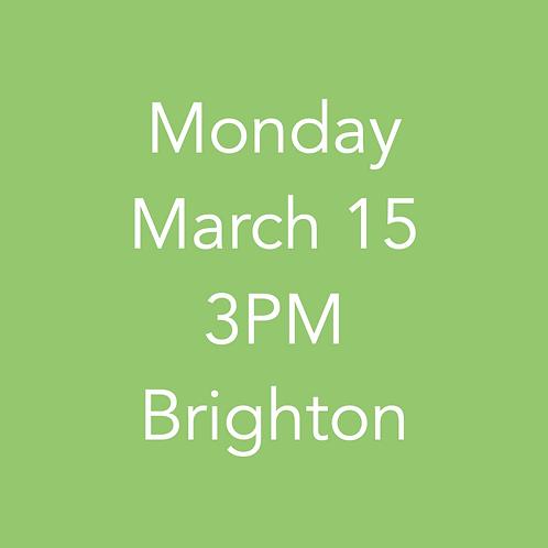 Brighton pick up 3/15 3PM