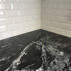 granite & tile backsplash