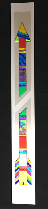 "Broken Arrow, a Native American Peace Symbol of Brushed Aluminum (5""X43"") $800"