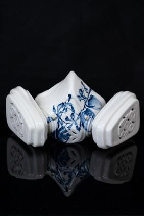 China Mask/ Incense Holder, Hong Kong Orchid Tree, No.1