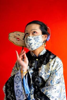 Wearing a mask during The Third Bubonic Plague, No. 4