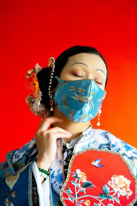 Wearing a mask during The Third Bubonic Plague, No. 1