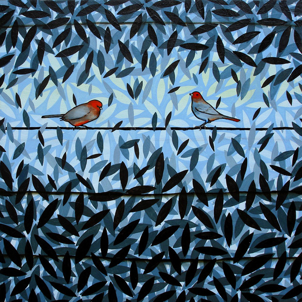 Blue with Birds, 2009