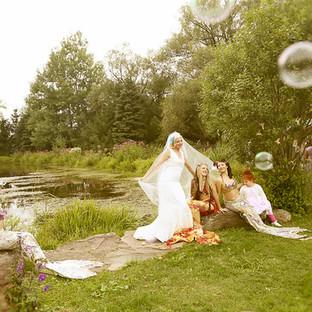 Bride & mermaids