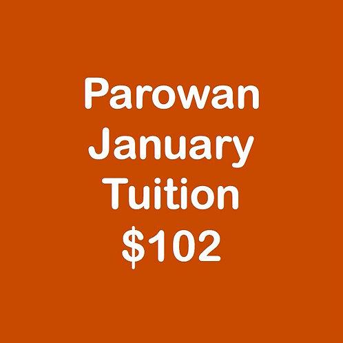 Parowan January Tuition