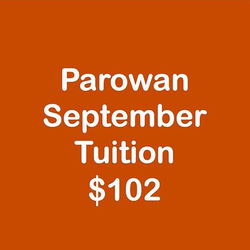 Parowan September Tuition