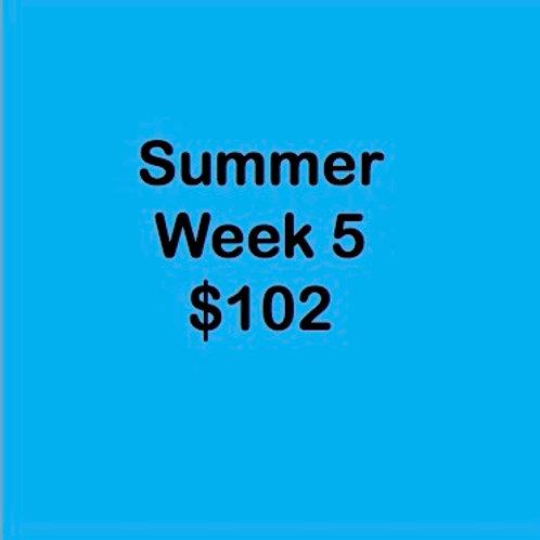 Summer Tuition Week 5 $102