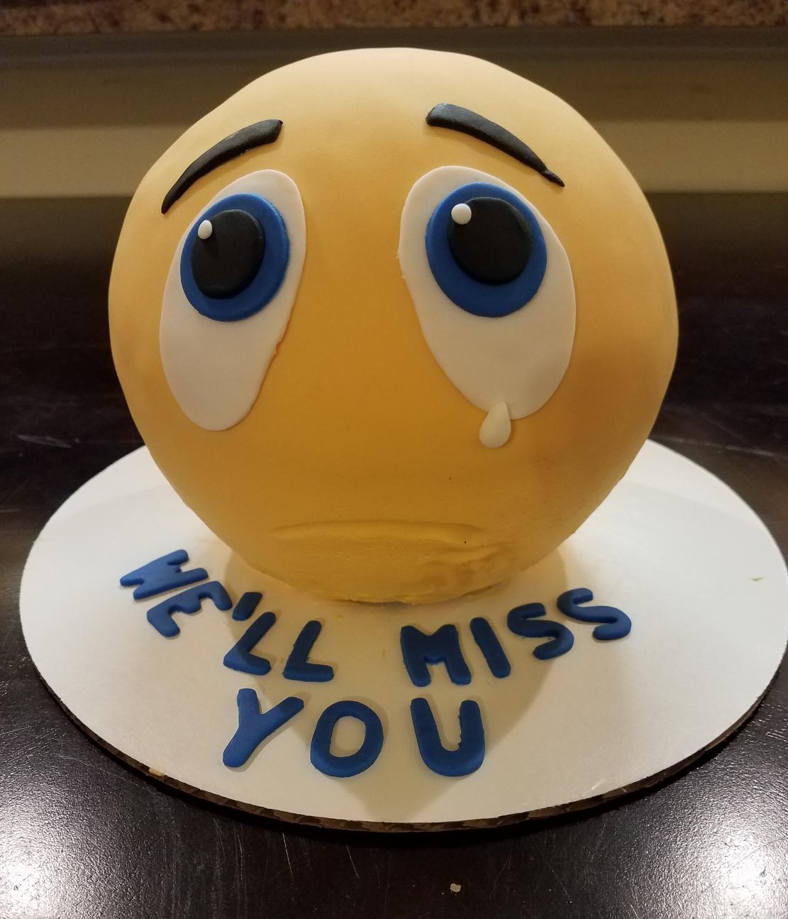 Sad Emoji Cake