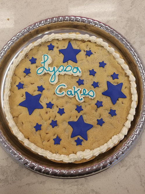 Chocolate Chip Cookie Cake with Stars