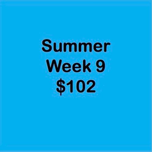 Summer Tuition Week 9 $102