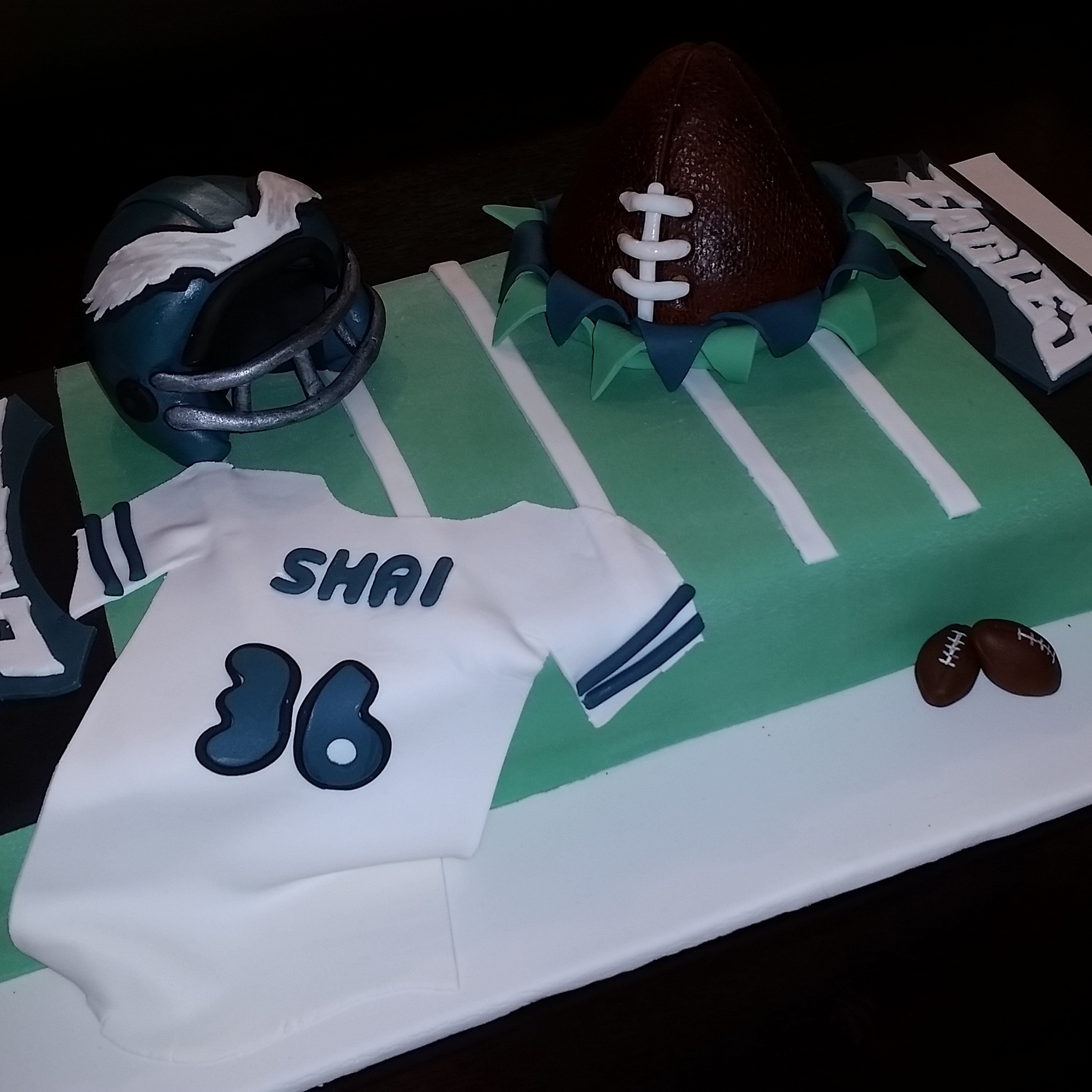 Philadelphia Eagles Football Cake