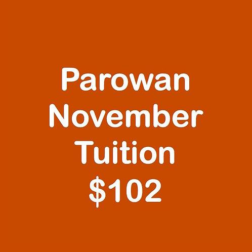 Parowan November Tuition