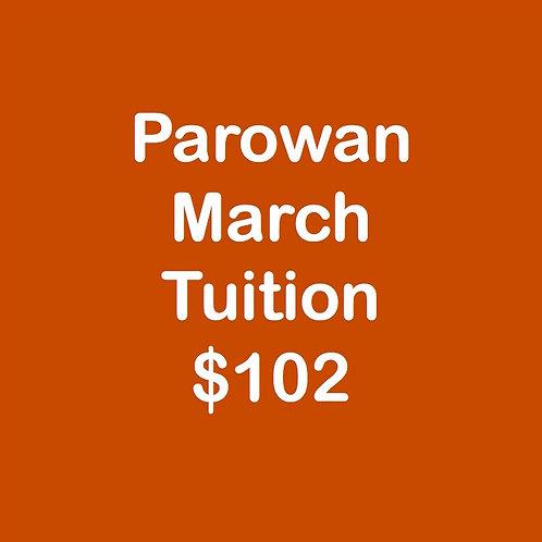 Parowan March Tuition
