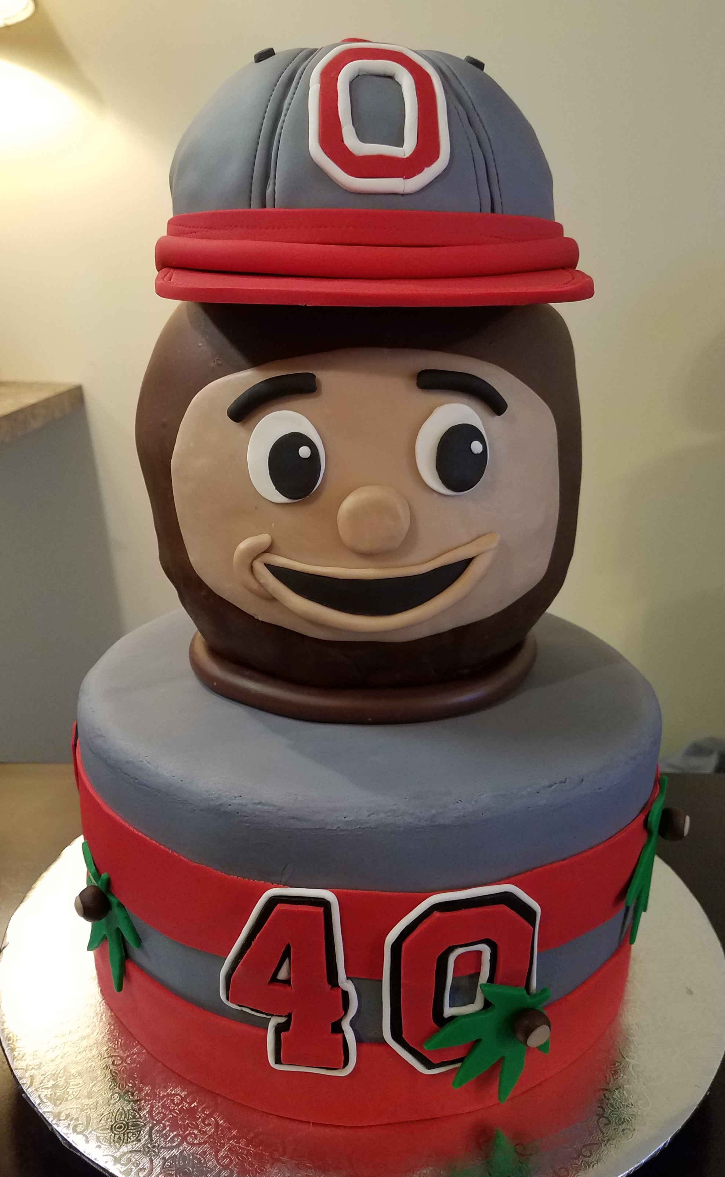 Ohio State Buckeye Cake