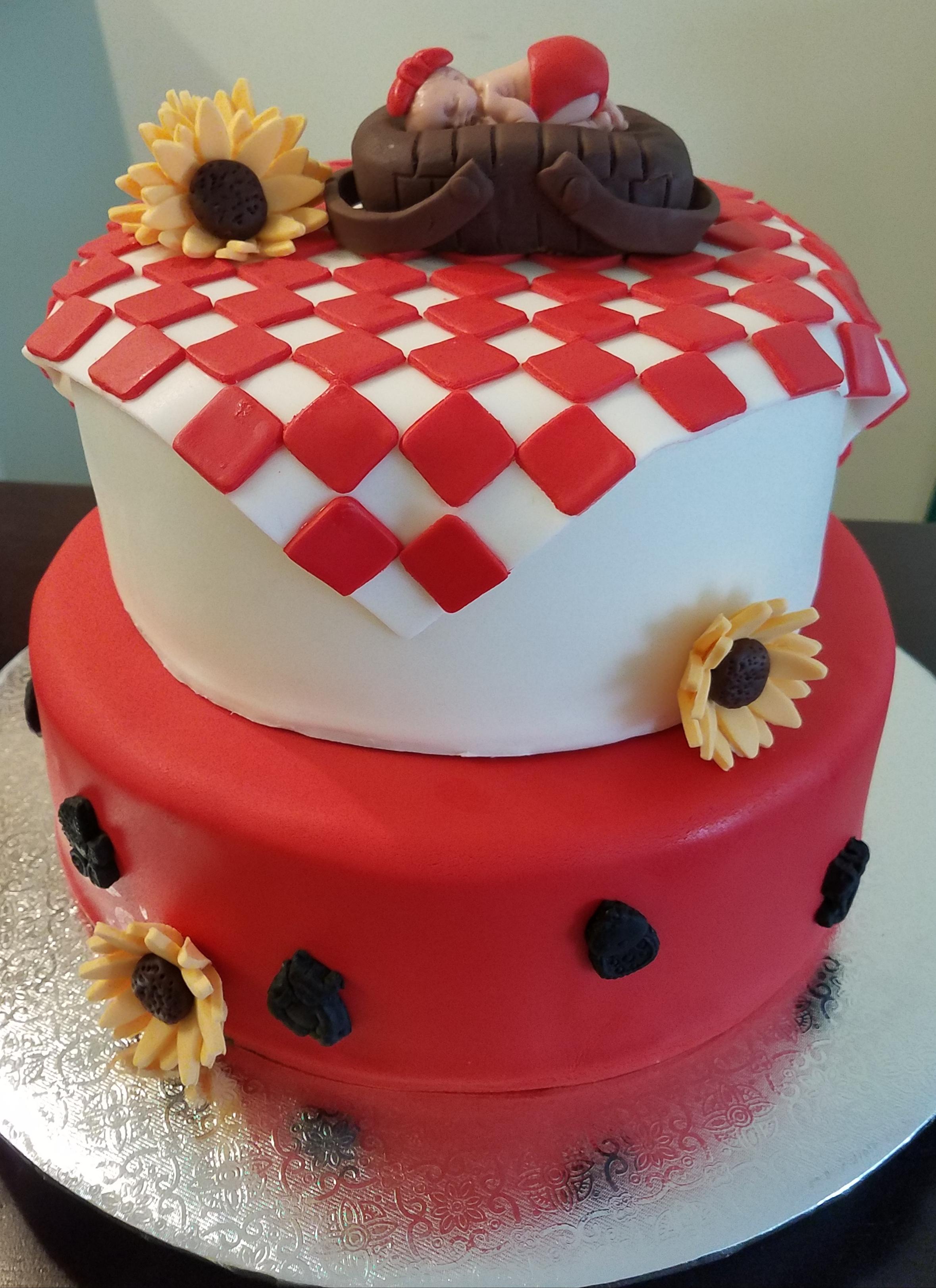 BBQ Baby Shower Cake