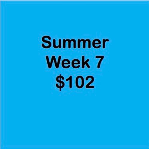 Summer Tuition Week 7 $102