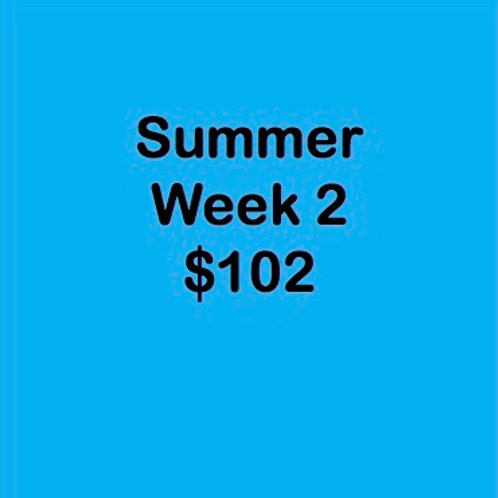 Summer Tuition Week 2 $102