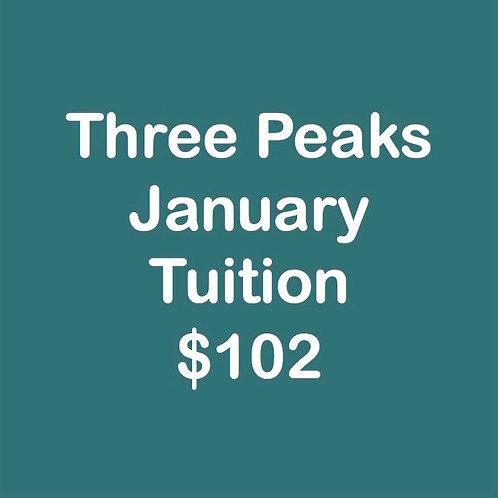 Three Peaks January Tuition