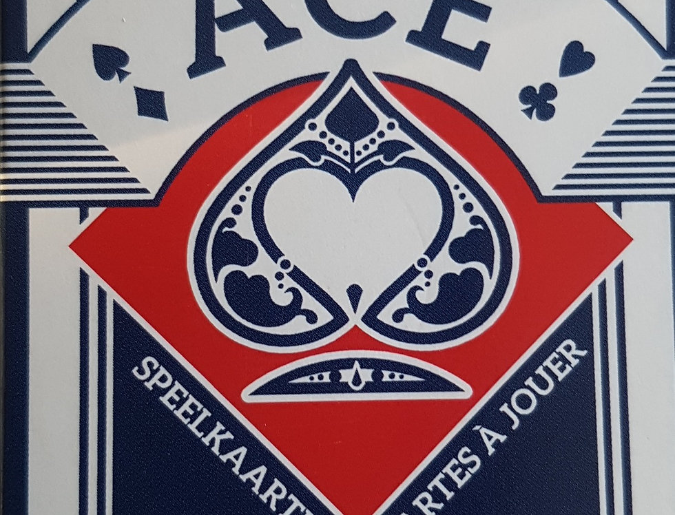 ACE - Printed by Cartamundi - Blue Deck