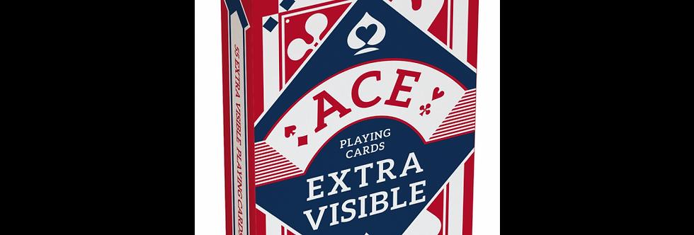 Jeu de cartes ACE Extra Visible Rouge ou Bleu
